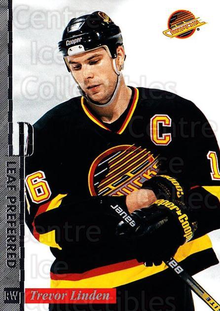 1996-97 Leaf Preferred #59 Trevor Linden<br/>3 In Stock - $1.00 each - <a href=https://centericecollectibles.foxycart.com/cart?name=1996-97%20Leaf%20Preferred%20%2359%20Trevor%20Linden...&quantity_max=3&price=$1.00&code=49559 class=foxycart> Buy it now! </a>