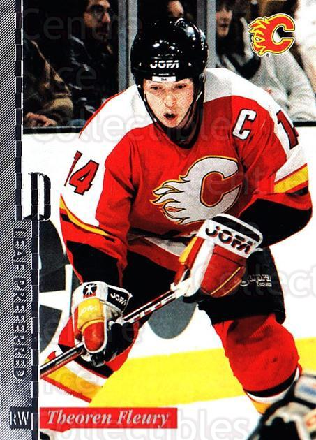 1996-97 Leaf Preferred #67 Theo Fleury<br/>3 In Stock - $1.00 each - <a href=https://centericecollectibles.foxycart.com/cart?name=1996-97%20Leaf%20Preferred%20%2367%20Theo%20Fleury...&quantity_max=3&price=$1.00&code=49568 class=foxycart> Buy it now! </a>