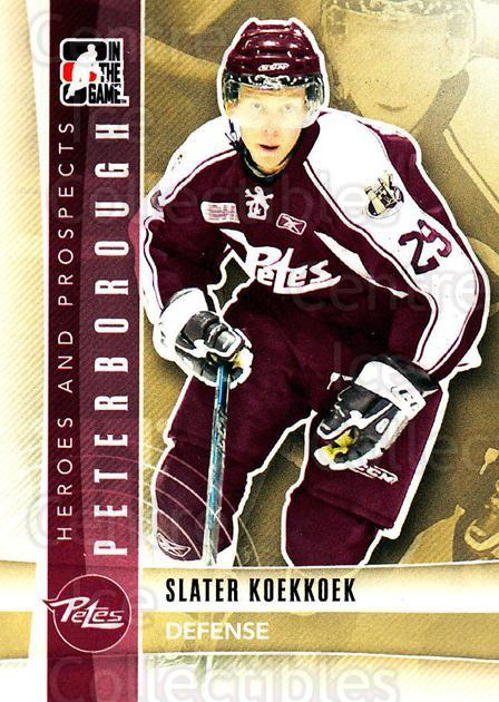 2011-12 ITG Heroes and Prospects #38 Slater Koekkoek<br/>3 In Stock - $1.00 each - <a href=https://centericecollectibles.foxycart.com/cart?name=2011-12%20ITG%20Heroes%20and%20Prospects%20%2338%20Slater%20Koekkoek...&quantity_max=3&price=$1.00&code=496887 class=foxycart> Buy it now! </a>