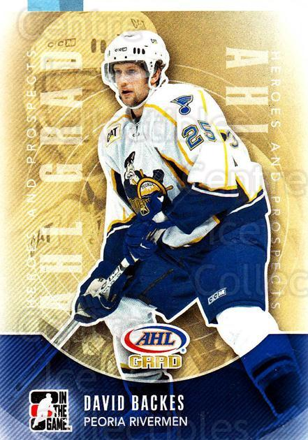 2011-12 ITG Heroes and Prospects #151 David Backes<br/>2 In Stock - $1.00 each - <a href=https://centericecollectibles.foxycart.com/cart?name=2011-12%20ITG%20Heroes%20and%20Prospects%20%23151%20David%20Backes...&quantity_max=2&price=$1.00&code=497000 class=foxycart> Buy it now! </a>