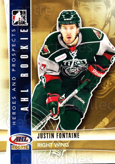 2011-12 ITG Heroes and Prospects #206 Justin Fontaine<br/>6 In Stock - $1.00 each - <a href=https://centericecollectibles.foxycart.com/cart?name=2011-12%20ITG%20Heroes%20and%20Prospects%20%23206%20Justin%20Fontaine...&quantity_max=6&price=$1.00&code=497055 class=foxycart> Buy it now! </a>