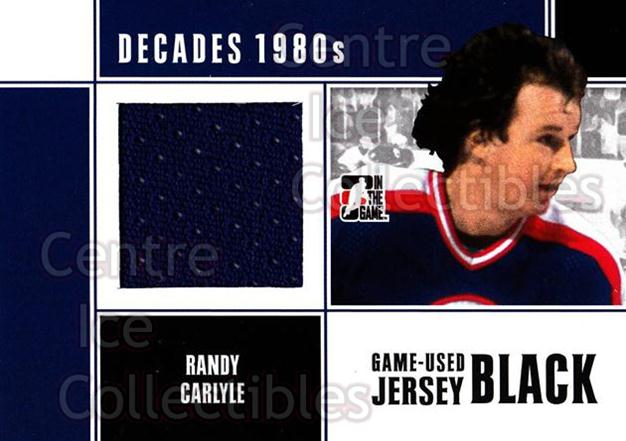 2010-11 ITG Decades 1980s Jersey Black #52 Randy Carlyle<br/>2 In Stock - $10.00 each - <a href=https://centericecollectibles.foxycart.com/cart?name=2010-11%20ITG%20Decades%201980s%20Jersey%20Black%20%2352%20Randy%20Carlyle...&quantity_max=2&price=$10.00&code=497151 class=foxycart> Buy it now! </a>