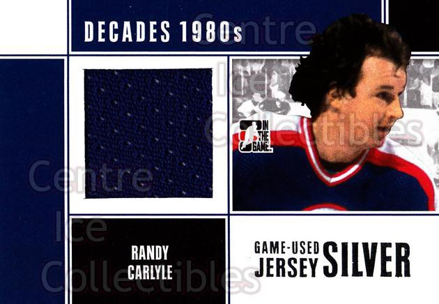 2010-11 ITG Decades 1980s Jersey Silver #52 Randy Carlyle<br/>1 In Stock - $10.00 each - <a href=https://centericecollectibles.foxycart.com/cart?name=2010-11%20ITG%20Decades%201980s%20Jersey%20Silver%20%2352%20Randy%20Carlyle...&quantity_max=1&price=$10.00&code=497226 class=foxycart> Buy it now! </a>