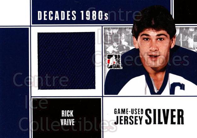 2010-11 ITG Decades 1980s Jersey Silver #56 Rick Vaive<br/>2 In Stock - $10.00 each - <a href=https://centericecollectibles.foxycart.com/cart?name=2010-11%20ITG%20Decades%201980s%20Jersey%20Silver%20%2356%20Rick%20Vaive...&quantity_max=2&price=$10.00&code=497230 class=foxycart> Buy it now! </a>