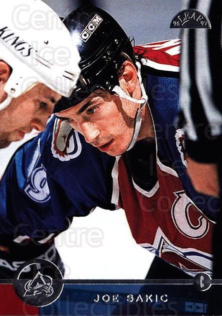 1996-97 Leaf #139 Joe Sakic<br/>4 In Stock - $2.00 each - <a href=https://centericecollectibles.foxycart.com/cart?name=1996-97%20Leaf%20%23139%20Joe%20Sakic...&quantity_max=4&price=$2.00&code=49788 class=foxycart> Buy it now! </a>