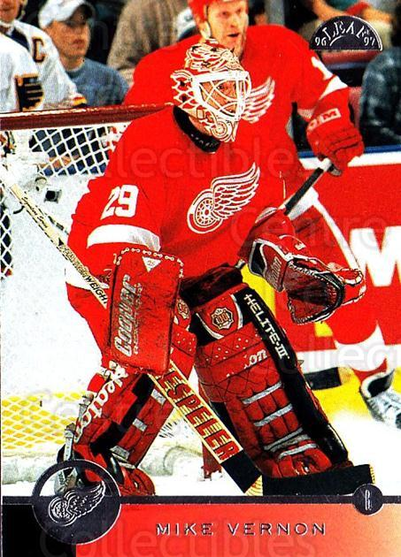 1996-97 Leaf #147 Mike Vernon<br/>2 In Stock - $1.00 each - <a href=https://centericecollectibles.foxycart.com/cart?name=1996-97%20Leaf%20%23147%20Mike%20Vernon...&quantity_max=2&price=$1.00&code=49797 class=foxycart> Buy it now! </a>