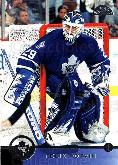 1996-97 Leaf #156 Felix Potvin<br/>1 In Stock - $1.00 each - <a href=https://centericecollectibles.foxycart.com/cart?name=1996-97%20Leaf%20%23156%20Felix%20Potvin...&quantity_max=1&price=$1.00&code=49806 class=foxycart> Buy it now! </a>
