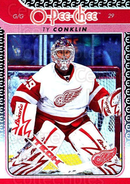 2009-10 O-pee-chee Rainbow #26 Ty Conklin<br/>2 In Stock - $2.00 each - <a href=https://centericecollectibles.foxycart.com/cart?name=2009-10%20O-pee-chee%20Rainbow%20%2326%20Ty%20Conklin...&quantity_max=2&price=$2.00&code=499187 class=foxycart> Buy it now! </a>