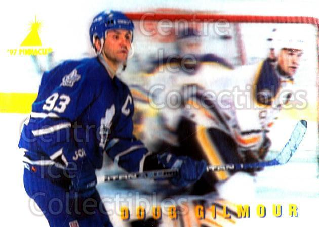 1996-97 McDonalds Pinnacle #14 Doug Gilmour<br/>7 In Stock - $1.00 each - <a href=https://centericecollectibles.foxycart.com/cart?name=1996-97%20McDonalds%20Pinnacle%20%2314%20Doug%20Gilmour...&quantity_max=7&price=$1.00&code=49920 class=foxycart> Buy it now! </a>