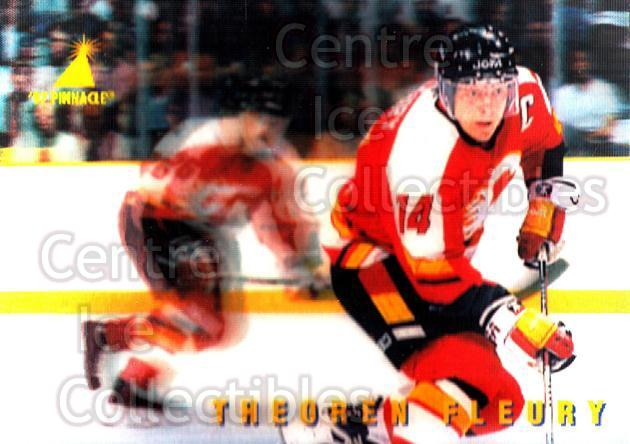 1996-97 McDonalds Pinnacle #15 Theo Fleury<br/>8 In Stock - $1.00 each - <a href=https://centericecollectibles.foxycart.com/cart?name=1996-97%20McDonalds%20Pinnacle%20%2315%20Theo%20Fleury...&quantity_max=8&price=$1.00&code=49921 class=foxycart> Buy it now! </a>