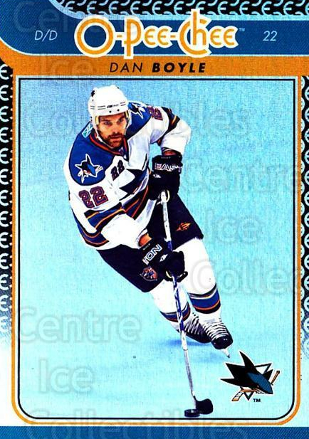 2009-10 O-pee-chee Rainbow #92 Dan Boyle<br/>2 In Stock - $2.00 each - <a href=https://centericecollectibles.foxycart.com/cart?name=2009-10%20O-pee-chee%20Rainbow%20%2392%20Dan%20Boyle...&quantity_max=2&price=$2.00&code=499253 class=foxycart> Buy it now! </a>