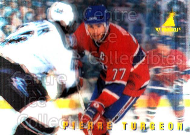 1996-97 McDonalds Pinnacle #19 Pierre Turgeon<br/>11 In Stock - $1.00 each - <a href=https://centericecollectibles.foxycart.com/cart?name=1996-97%20McDonalds%20Pinnacle%20%2319%20Pierre%20Turgeon...&quantity_max=11&price=$1.00&code=49925 class=foxycart> Buy it now! </a>