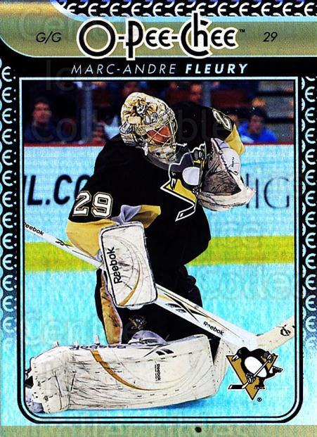 2009-10 O-pee-chee Rainbow #147 Marc-Andre Fleury<br/>2 In Stock - $5.00 each - <a href=https://centericecollectibles.foxycart.com/cart?name=2009-10%20O-pee-chee%20Rainbow%20%23147%20Marc-Andre%20Fleu...&quantity_max=2&price=$5.00&code=499308 class=foxycart> Buy it now! </a>