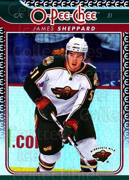 2009-10 O-pee-chee Rainbow #161 James Sheppard<br/>2 In Stock - $2.00 each - <a href=https://centericecollectibles.foxycart.com/cart?name=2009-10%20O-pee-chee%20Rainbow%20%23161%20James%20Sheppard...&quantity_max=2&price=$2.00&code=499322 class=foxycart> Buy it now! </a>