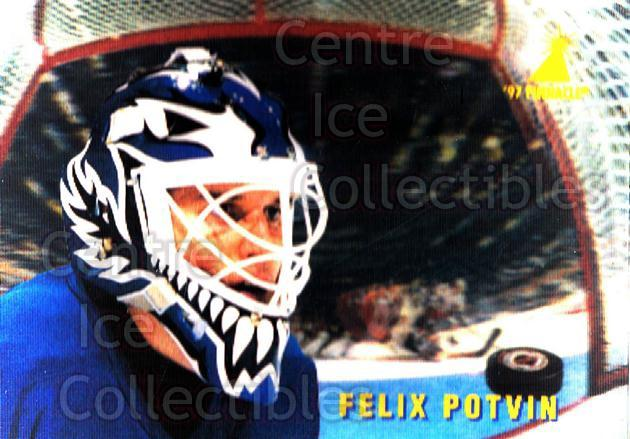 1996-97 McDonalds Pinnacle #38 Felix Potvin<br/>4 In Stock - $1.00 each - <a href=https://centericecollectibles.foxycart.com/cart?name=1996-97%20McDonalds%20Pinnacle%20%2338%20Felix%20Potvin...&quantity_max=4&price=$1.00&code=49944 class=foxycart> Buy it now! </a>