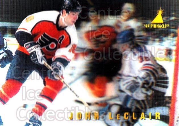 1996-97 McDonalds Pinnacle #4 John LeClair<br/>9 In Stock - $1.00 each - <a href=https://centericecollectibles.foxycart.com/cart?name=1996-97%20McDonalds%20Pinnacle%20%234%20John%20LeClair...&quantity_max=9&price=$1.00&code=49946 class=foxycart> Buy it now! </a>