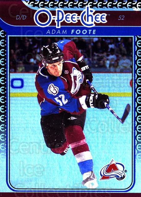 2009-10 O-pee-chee Rainbow #231 Adam Foote<br/>2 In Stock - $2.00 each - <a href=https://centericecollectibles.foxycart.com/cart?name=2009-10%20O-pee-chee%20Rainbow%20%23231%20Adam%20Foote...&quantity_max=2&price=$2.00&code=499554 class=foxycart> Buy it now! </a>