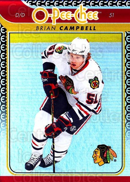 2009-10 O-pee-chee Rainbow #309 Brian Campbell<br/>2 In Stock - $2.00 each - <a href=https://centericecollectibles.foxycart.com/cart?name=2009-10%20O-pee-chee%20Rainbow%20%23309%20Brian%20Campbell...&quantity_max=2&price=$2.00&code=499632 class=foxycart> Buy it now! </a>