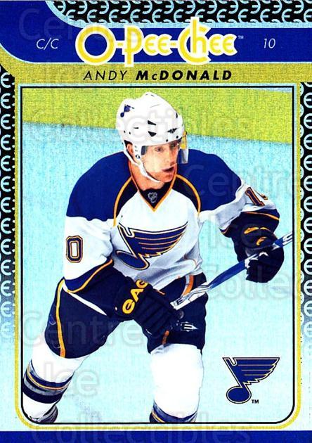 2009-10 O-pee-chee Rainbow #458 Andy McDonald<br/>2 In Stock - $2.00 each - <a href=https://centericecollectibles.foxycart.com/cart?name=2009-10%20O-pee-chee%20Rainbow%20%23458%20Andy%20McDonald...&quantity_max=2&price=$2.00&code=499781 class=foxycart> Buy it now! </a>