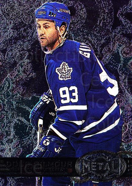 1996-97 Metal Universe #149 Doug Gilmour<br/>2 In Stock - $1.00 each - <a href=https://centericecollectibles.foxycart.com/cart?name=1996-97%20Metal%20Universe%20%23149%20Doug%20Gilmour...&quantity_max=2&price=$1.00&code=50027 class=foxycart> Buy it now! </a>