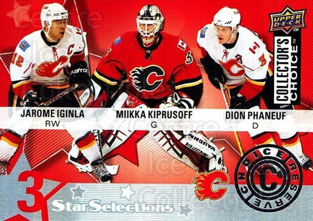 2009-10 Collectors Choice Reserve #205 Jarome Iginla, Miikka Kiprusoff, Dion Phaneuf<br/>4 In Stock - $2.00 each - <a href=https://centericecollectibles.foxycart.com/cart?name=2009-10%20Collectors%20Choice%20Reserve%20%23205%20Jarome%20Iginla,%20...&quantity_max=4&price=$2.00&code=500807 class=foxycart> Buy it now! </a>