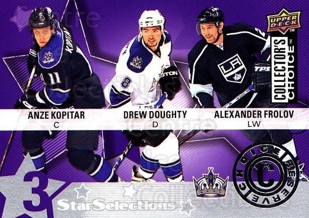 2009-10 Collectors Choice Reserve #214 Alexander Frolov, Anze Kopitar, Drew Doughty<br/>1 In Stock - $2.00 each - <a href=https://centericecollectibles.foxycart.com/cart?name=2009-10%20Collectors%20Choice%20Reserve%20%23214%20Alexander%20Frolo...&quantity_max=1&price=$2.00&code=500816 class=foxycart> Buy it now! </a>