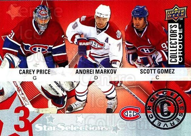 2009-10 Collectors Choice Reserve #216 Scott Gomez, Andrei Markov, Carey Price<br/>2 In Stock - $3.00 each - <a href=https://centericecollectibles.foxycart.com/cart?name=2009-10%20Collectors%20Choice%20Reserve%20%23216%20Scott%20Gomez,%20An...&quantity_max=2&price=$3.00&code=500818 class=foxycart> Buy it now! </a>