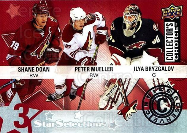 2009-10 Collectors Choice Reserve #223 Shane Doan, Ilya Bryzgalov, Peter Mueller<br/>2 In Stock - $2.00 each - <a href=https://centericecollectibles.foxycart.com/cart?name=2009-10%20Collectors%20Choice%20Reserve%20%23223%20Shane%20Doan,%20Ily...&quantity_max=2&price=$2.00&code=500825 class=foxycart> Buy it now! </a>