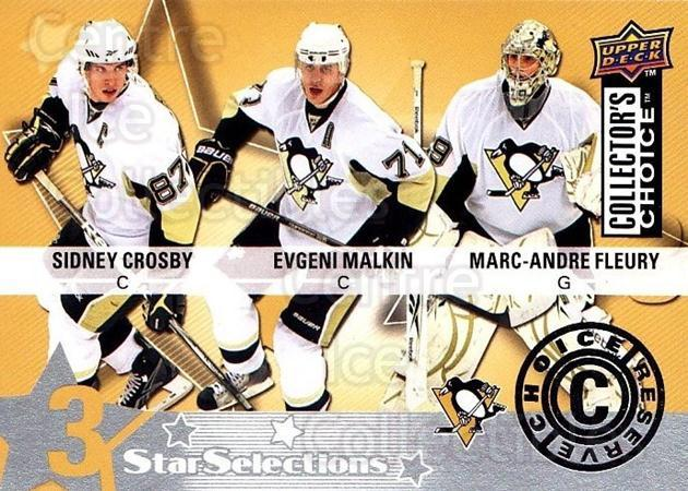 2009-10 Collectors Choice Reserve #224 Sidney Crosby, Evgeni Malkin, Marc-Andre Fleury<br/>1 In Stock - $5.00 each - <a href=https://centericecollectibles.foxycart.com/cart?name=2009-10%20Collectors%20Choice%20Reserve%20%23224%20Sidney%20Crosby,%20...&quantity_max=1&price=$5.00&code=500826 class=foxycart> Buy it now! </a>