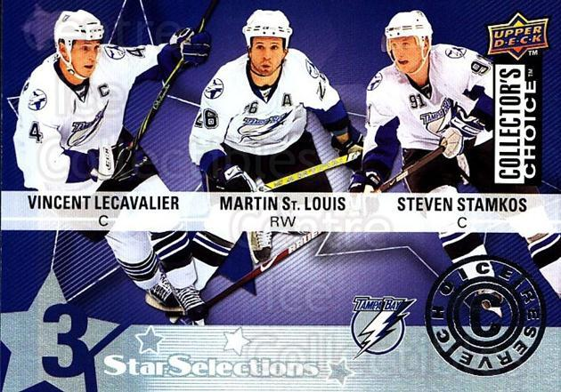 2009-10 Collectors Choice Reserve #227 Martin St. Louis, Vincent Lecavalier, Steven Stamkos<br/>2 In Stock - $3.00 each - <a href=https://centericecollectibles.foxycart.com/cart?name=2009-10%20Collectors%20Choice%20Reserve%20%23227%20Martin%20St.%20Loui...&price=$3.00&code=500829 class=foxycart> Buy it now! </a>
