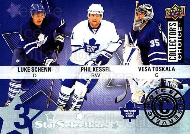 2009-10 Collectors Choice Reserve #228 Luke Schenn, Phil Kessel, Vesa Toskala<br/>3 In Stock - $2.00 each - <a href=https://centericecollectibles.foxycart.com/cart?name=2009-10%20Collectors%20Choice%20Reserve%20%23228%20Luke%20Schenn,%20Ph...&quantity_max=3&price=$2.00&code=500830 class=foxycart> Buy it now! </a>