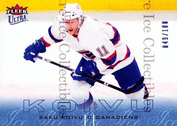 2009-10 Ultra Ice Medallion #178 Saku Koivu<br/>1 In Stock - $5.00 each - <a href=https://centericecollectibles.foxycart.com/cart?name=2009-10%20Ultra%20Ice%20Medallion%20%23178%20Saku%20Koivu...&quantity_max=1&price=$5.00&code=501080 class=foxycart> Buy it now! </a>