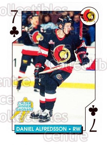 1996-97 NHL Aces Playing Card #20 Daniel Alfredsson<br/>5 In Stock - $2.00 each - <a href=https://centericecollectibles.foxycart.com/cart?name=1996-97%20NHL%20Aces%20Playing%20Card%20%2320%20Daniel%20Alfredss...&quantity_max=5&price=$2.00&code=50124 class=foxycart> Buy it now! </a>