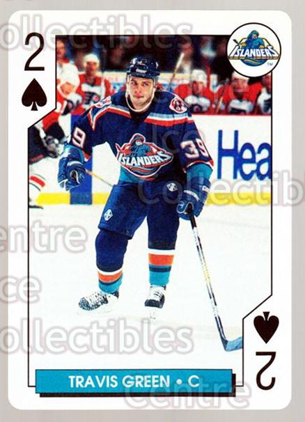 1996-97 NHL Aces Playing Card #41 Travis Green<br/>5 In Stock - $2.00 each - <a href=https://centericecollectibles.foxycart.com/cart?name=1996-97%20NHL%20Aces%20Playing%20Card%20%2341%20Travis%20Green...&quantity_max=5&price=$2.00&code=50132 class=foxycart> Buy it now! </a>