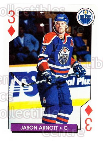 1996-97 NHL Aces Playing Card #29 Jason Arnott<br/>4 In Stock - $2.00 each - <a href=https://centericecollectibles.foxycart.com/cart?name=1996-97%20NHL%20Aces%20Playing%20Card%20%2329%20Jason%20Arnott...&quantity_max=4&price=$2.00&code=50133 class=foxycart> Buy it now! </a>