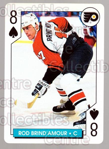 1996-97 NHL Aces Playing Card #47 Rod Brind'Amour<br/>2 In Stock - $2.00 each - <a href=https://centericecollectibles.foxycart.com/cart?name=1996-97%20NHL%20Aces%20Playing%20Card%20%2347%20Rod%20Brind'Amour...&quantity_max=2&price=$2.00&code=50151 class=foxycart> Buy it now! </a>