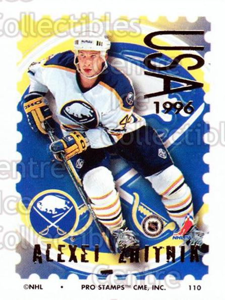 1996-97 NHL Pro Stamps #110 Alexei Zhitnik<br/>30 In Stock - $2.00 each - <a href=https://centericecollectibles.foxycart.com/cart?name=1996-97%20NHL%20Pro%20Stamps%20%23110%20Alexei%20Zhitnik...&quantity_max=30&price=$2.00&code=50177 class=foxycart> Buy it now! </a>
