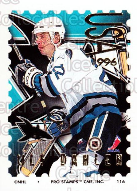 1996-97 NHL Pro Stamps #116 Ulf Dahlen<br/>28 In Stock - $2.00 each - <a href=https://centericecollectibles.foxycart.com/cart?name=1996-97%20NHL%20Pro%20Stamps%20%23116%20Ulf%20Dahlen...&quantity_max=28&price=$2.00&code=50183 class=foxycart> Buy it now! </a>