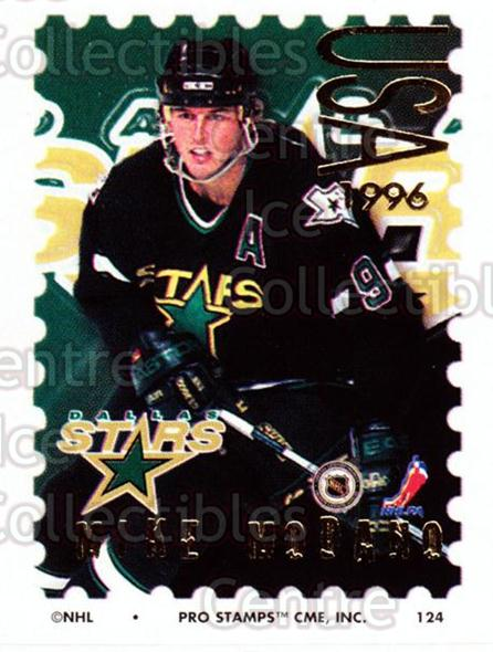 1996-97 NHL Pro Stamps #124 Mike Modano<br/>28 In Stock - $2.00 each - <a href=https://centericecollectibles.foxycart.com/cart?name=1996-97%20NHL%20Pro%20Stamps%20%23124%20Mike%20Modano...&quantity_max=28&price=$2.00&code=50191 class=foxycart> Buy it now! </a>