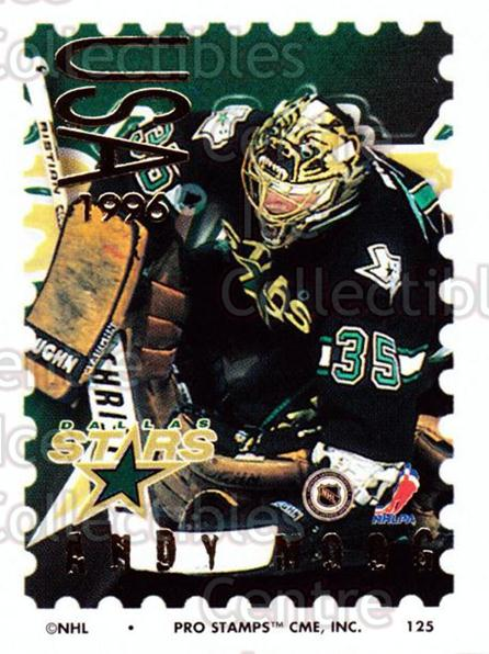 1996-97 NHL Pro Stamps #125 Andy Moog<br/>31 In Stock - $2.00 each - <a href=https://centericecollectibles.foxycart.com/cart?name=1996-97%20NHL%20Pro%20Stamps%20%23125%20Andy%20Moog...&quantity_max=31&price=$2.00&code=50192 class=foxycart> Buy it now! </a>