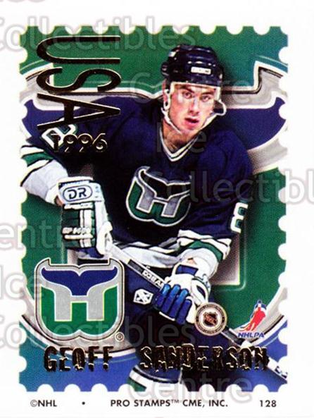 1996-97 NHL Pro Stamps #128 Geoff Sanderson<br/>33 In Stock - $2.00 each - <a href=https://centericecollectibles.foxycart.com/cart?name=1996-97%20NHL%20Pro%20Stamps%20%23128%20Geoff%20Sanderson...&quantity_max=33&price=$2.00&code=50195 class=foxycart> Buy it now! </a>