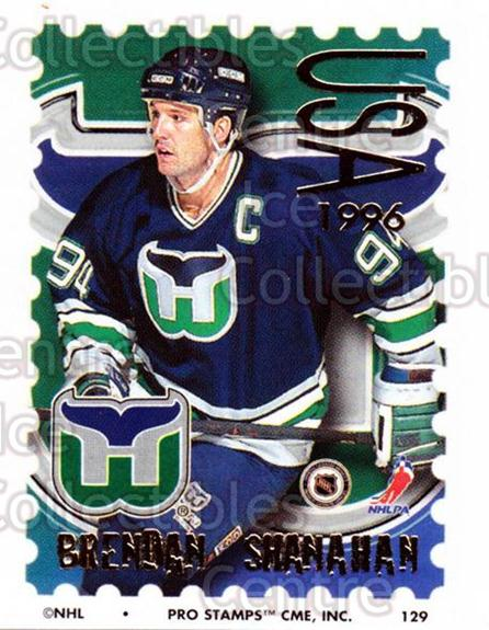 1996-97 NHL Pro Stamps #129 Brendan Shanahan<br/>31 In Stock - $2.00 each - <a href=https://centericecollectibles.foxycart.com/cart?name=1996-97%20NHL%20Pro%20Stamps%20%23129%20Brendan%20Shanaha...&quantity_max=31&price=$2.00&code=50196 class=foxycart> Buy it now! </a>