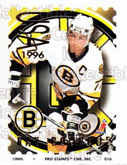 1996-97 NHL Pro Stamps #16 Ray Bourque<br/>28 In Stock - $2.00 each - <a href=https://centericecollectibles.foxycart.com/cart?name=1996-97%20NHL%20Pro%20Stamps%20%2316%20Ray%20Bourque...&quantity_max=28&price=$2.00&code=50201 class=foxycart> Buy it now! </a>