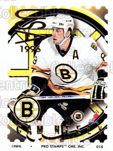 1996-97 NHL Pro Stamps #18 Cam Neely<br/>29 In Stock - $2.00 each - <a href=https://centericecollectibles.foxycart.com/cart?name=1996-97%20NHL%20Pro%20Stamps%20%2318%20Cam%20Neely...&quantity_max=29&price=$2.00&code=50203 class=foxycart> Buy it now! </a>