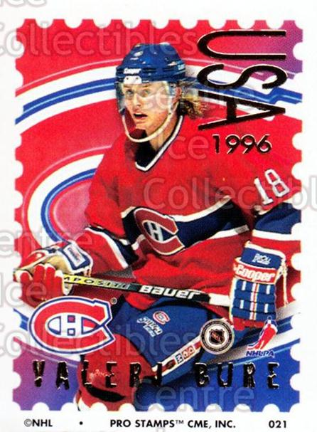 1996-97 NHL Pro Stamps #21 Valeri Bure<br/>29 In Stock - $2.00 each - <a href=https://centericecollectibles.foxycart.com/cart?name=1996-97%20NHL%20Pro%20Stamps%20%2321%20Valeri%20Bure...&quantity_max=29&price=$2.00&code=50206 class=foxycart> Buy it now! </a>