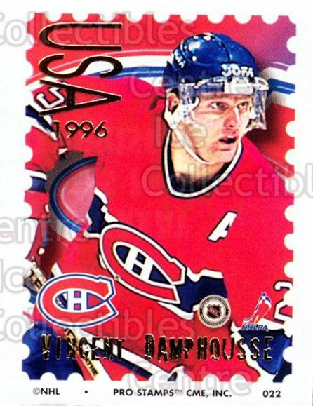 1996-97 NHL Pro Stamps #22 Vincent Damphousse<br/>31 In Stock - $2.00 each - <a href=https://centericecollectibles.foxycart.com/cart?name=1996-97%20NHL%20Pro%20Stamps%20%2322%20Vincent%20Damphou...&quantity_max=31&price=$2.00&code=50207 class=foxycart> Buy it now! </a>