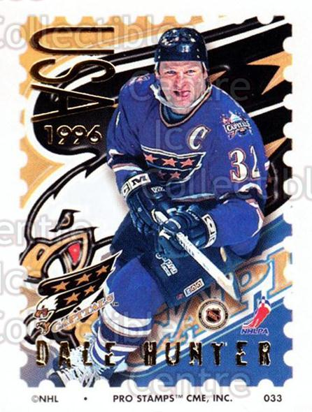 1996-97 NHL Pro Stamps #33 Dale Hunter<br/>29 In Stock - $2.00 each - <a href=https://centericecollectibles.foxycart.com/cart?name=1996-97%20NHL%20Pro%20Stamps%20%2333%20Dale%20Hunter...&quantity_max=29&price=$2.00&code=50217 class=foxycart> Buy it now! </a>