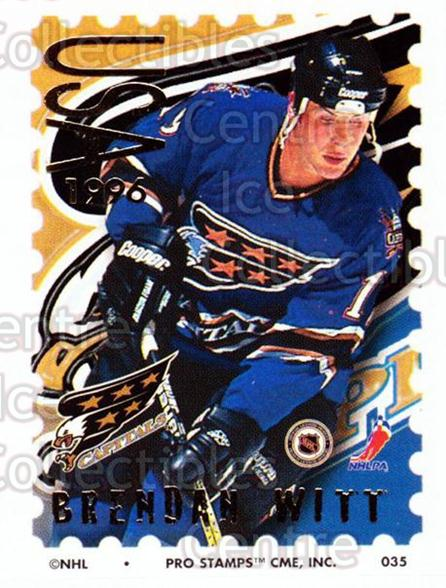 1996-97 NHL Pro Stamps #35 Brendan Witt<br/>30 In Stock - $2.00 each - <a href=https://centericecollectibles.foxycart.com/cart?name=1996-97%20NHL%20Pro%20Stamps%20%2335%20Brendan%20Witt...&quantity_max=30&price=$2.00&code=50219 class=foxycart> Buy it now! </a>