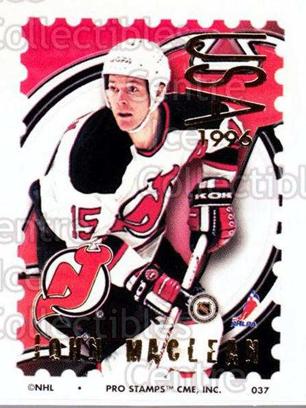 1996-97 NHL Pro Stamps #37 John MacLean<br/>31 In Stock - $2.00 each - <a href=https://centericecollectibles.foxycart.com/cart?name=1996-97%20NHL%20Pro%20Stamps%20%2337%20John%20MacLean...&quantity_max=31&price=$2.00&code=50220 class=foxycart> Buy it now! </a>