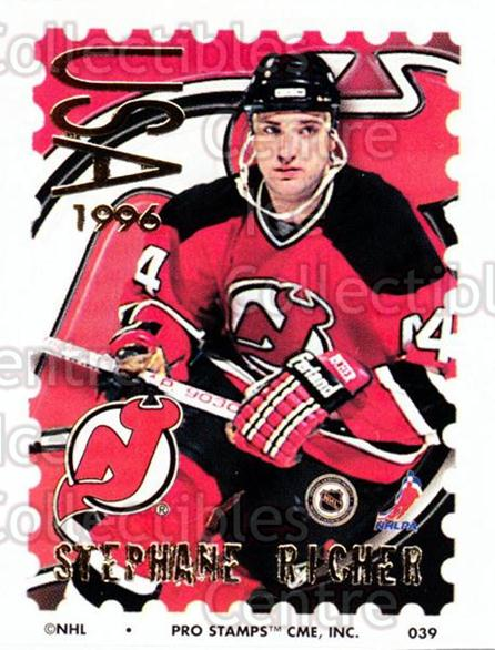 1996-97 NHL Pro Stamps #39 Stephane Richer<br/>29 In Stock - $2.00 each - <a href=https://centericecollectibles.foxycart.com/cart?name=1996-97%20NHL%20Pro%20Stamps%20%2339%20Stephane%20Richer...&quantity_max=29&price=$2.00&code=50222 class=foxycart> Buy it now! </a>